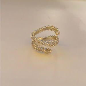Kendra Scott Beck ring gold sz 8
